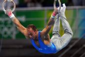 图文:体操―男子吊环决赛赛况 大鹏展翅