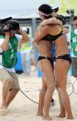 图文:沙排女子半决赛中国德比 终于看到曙光