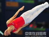 图文:男子蹦床陆春龙夺冠 空中动作标准