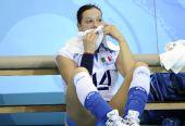 图文:女排/4决赛美国胜意大利 失利后非常伤心