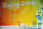 图文:何冲夺得男子3米跳板冠军 跳水在水立方