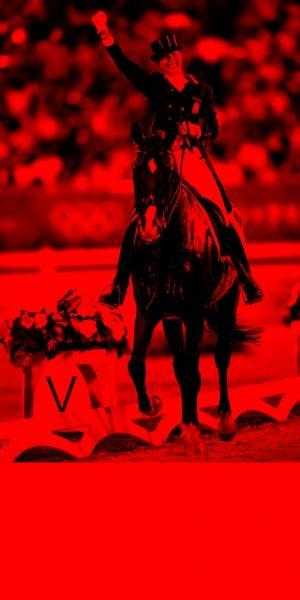 ▲荷兰骑手安基·范格林斯芬夺冠。