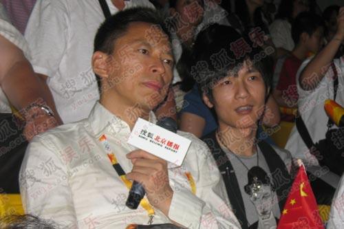 接受张朝阳的采访,大赞中国队的奥林匹克精神