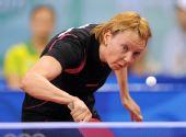 图文:奥运乒球女单第三轮 白俄罗斯选手出局