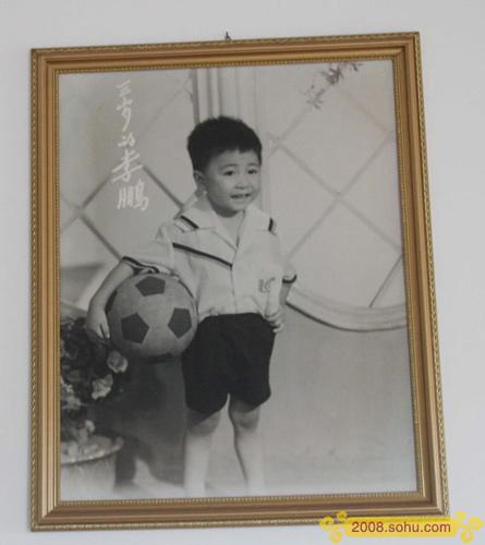 独家图:李小鹏成长历程 3岁的李小鹏