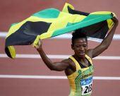 图文:女子400米栏牙买加选手夺金 异常兴奋