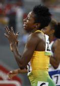 图文:女子400米栏牙买加选手夺金 丰富的表情