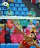 图文:女子沙排薛晨/张希获铜牌 中国选手薛晨