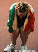 图文:奥运会女子20公里竞走赛况 抱头痛哭