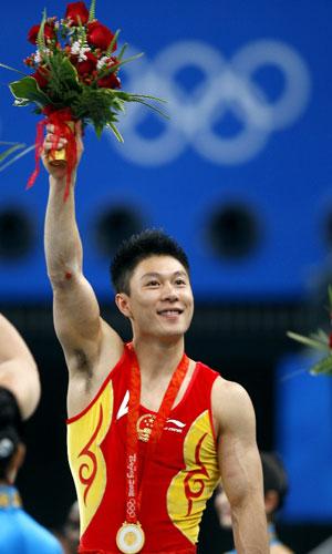 李小鹏夺得男子单项双杠冠军