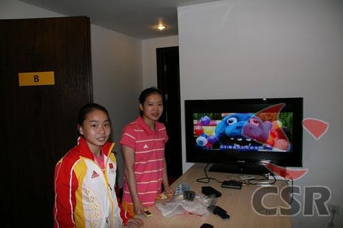图文:程菲和李珊珊在奥运村的寝室