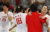 图文:女子5-8名排名赛中国胜瑞典 激动落泪