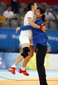 图文:[女手]中国20-19瑞典 庆祝胜利