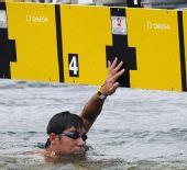 图文:男子10公里马拉松游泳 辛桐获第23名