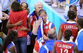 图文:女排半决赛美国VS古巴 古巴队心情沮丧