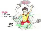 冠军漫画:羽毛球男单决赛 林丹完美摘金