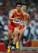 图文:男子4X100米接力 胡凯奋力向前