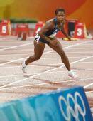 图文:奥运女子4*100米第一轮 追赶为时已晚