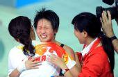 图文:女子十米台陈若琳夺金 顶住压力胜利