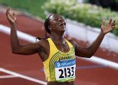 图文:女子200米牙买加选手夺冠 21秒74夺金牌