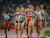 图文:女子1500米刘青无缘决赛 刘青获小组第九