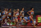 图文:女子1500米刘青无缘决赛 第一轮比赛