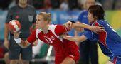 图文:手球女子半决赛挪威胜韩国 挪威队球员