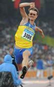 图文:男子三级跳远决赛赛况 乌克兰选手维克托