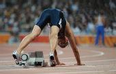 图文:男子400米决赛赛况 韦林纳比赛准备起跑