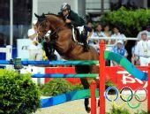 图文:马术场地障碍个人赛决赛 沙特阿拉伯骑手
