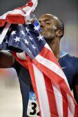 图文:男子400米梅里特夺冠 梅里特在比赛后