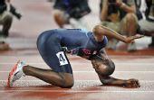 图文:男子400米梅里特夺冠 梅里特夺冠