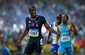 图文:男子400米梅里特夺冠 梅里特夺冠后