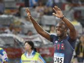 图文:男子400米梅里特夺冠 以43秒75成绩夺金