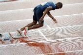 图文:男子400米梅里特夺冠 梅里特在比赛中