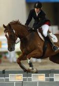 图文:现代五项女子马术障碍赛 德国选手暂第一