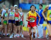 图文:女子现代五项 陈倩奋力奔跑