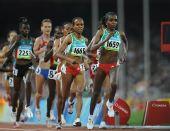 图文:女子5000米 埃塞俄比亚选手夺金