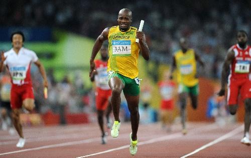 图文:奥运男子4×100米 牙买加夺金破世界纪录