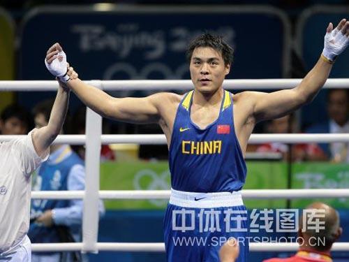 图文:91公斤以上级张志磊不战晋级 不战而胜
