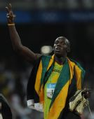 图文:男子4X100米接力牙买加夺金 博尔特抢镜