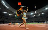 图文:女子跳远巴西选手夺金