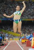 图文:女子跳远巴西选手夺金 巴西毛伦・伊加