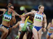 图文:女子4X100米接力赛况 英国队选手埃米莉