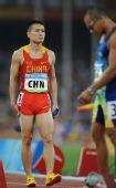 图文:中国队征战男子4X100米接力决赛 温永毅