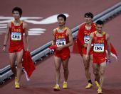 图文:中国队征战男子4X100米接力决赛 决赛后