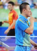 图文:男乒马琳顺利晋级决赛 马琳感谢观众