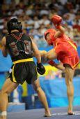 图文:武术男子散手赛况 中国选手张帅可晋级
