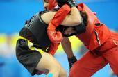 图文:武术比赛女子60公斤级 菲律宾选手胜出