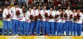 图文:女子手球韩国队获得季军 韩国姑娘